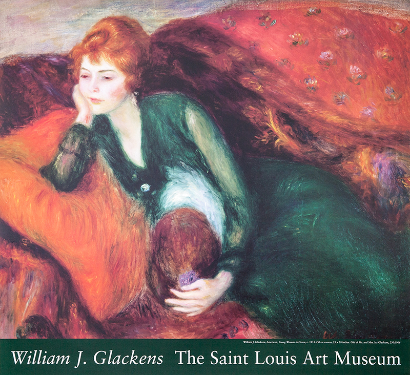 "Poster Glackens ""Woman in Green"""