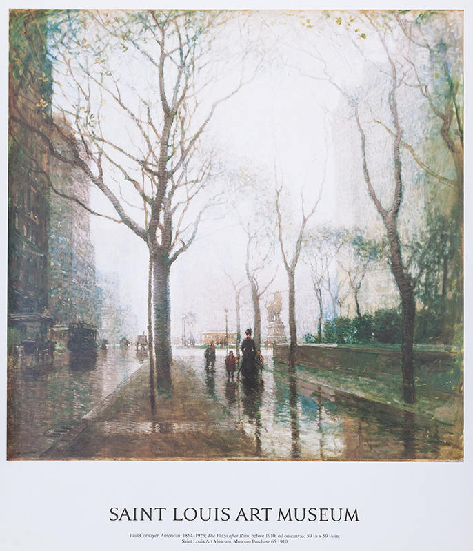 "Poster Cornoyer's ""The Plaza After Rain"""