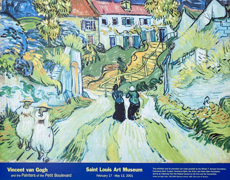 """Poster van Gogh's """"Stairway at Auvers"""""""