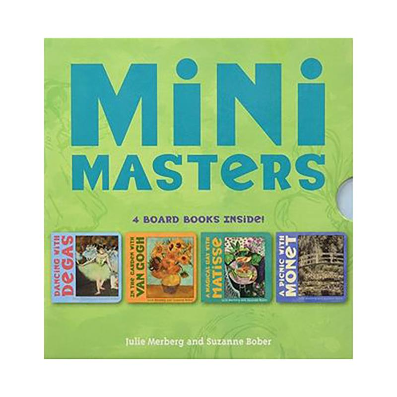 Mini Masters 4 Board Books,9780811855181