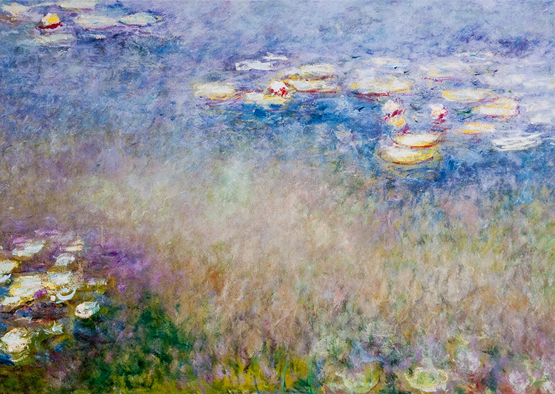 "Note card Monet's ""Water Lilies"""