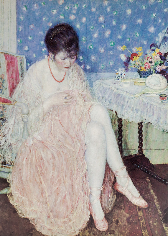 "Note card Frieseke's ""Torn Lingerie"""