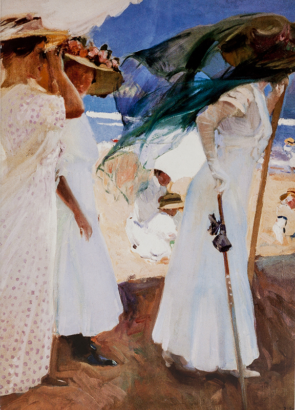 "Note card Sorolla y Bastida's ""Under the Awning"""