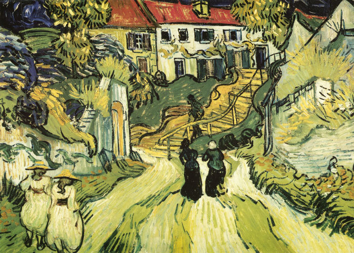 "Note card van Gogh's ""Stairway at Auvers"""