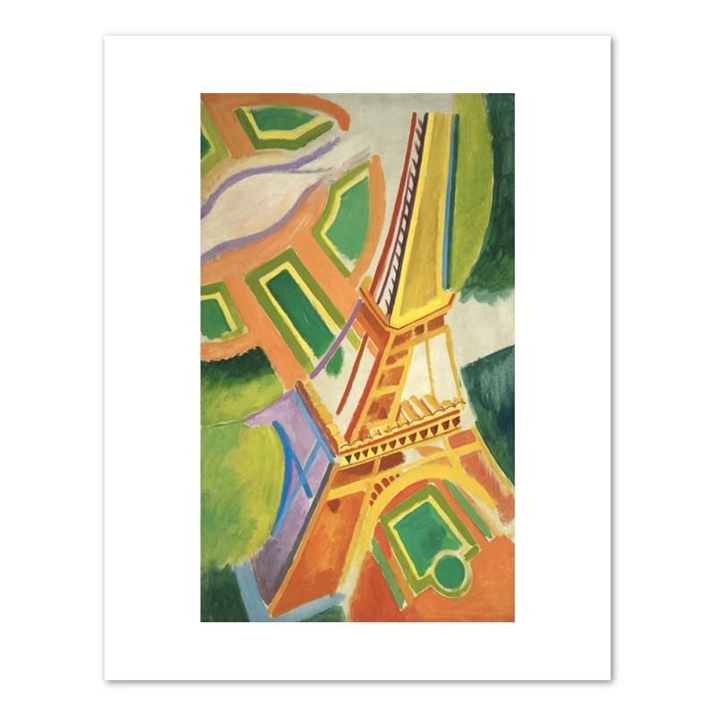 """Print Delaunay Eiffel Tower 11 x 14"""""""
