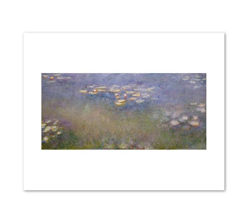 "Print Monet Waterlilies 11 x 14"""