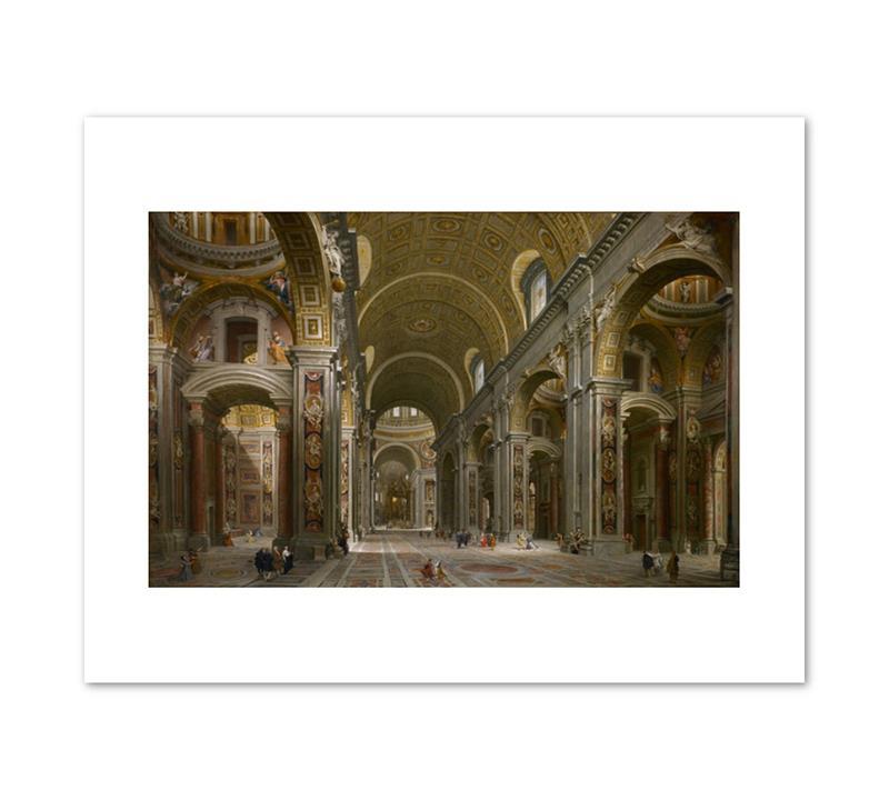 """Print Pannini St. Peter's, Rome 11 x 14"""""""
