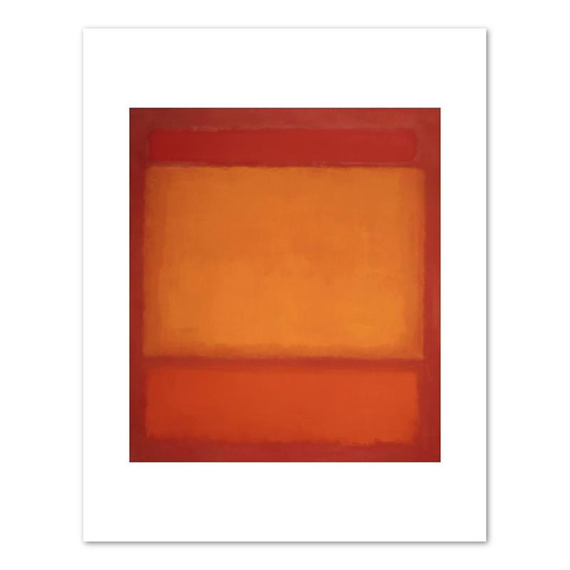 "Print Rothko Red, Orange, Orange on Red 11 x 14"""