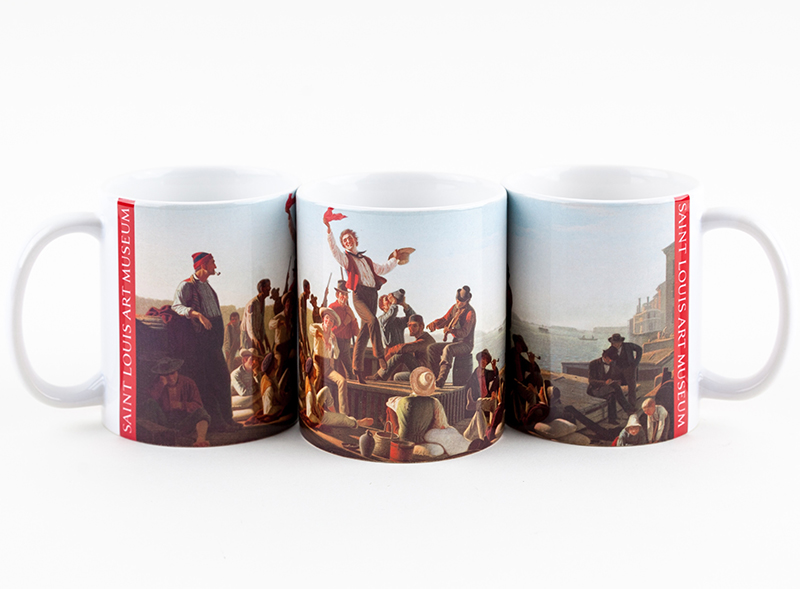 "Mug Bingham's ""Jolly Flatboatmen in Port"",G18250BINGHAM"