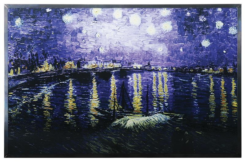 Stained Glass van Gogh Starry Night over the Rhone,8505