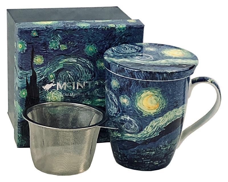 Mug Tea van Gogh Starry Night Tea Mug with infuser,MC020088