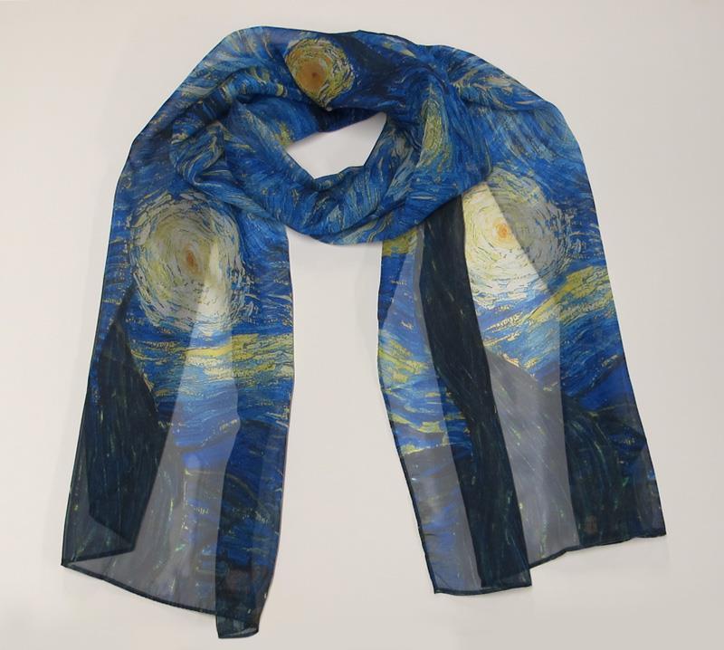 Scarf Van Gogh Starry Night.,840109