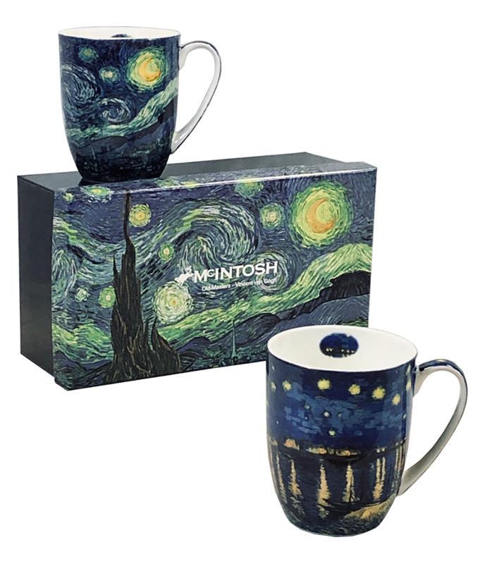 Mug S/2 Gogh Starry Nights,MC020161