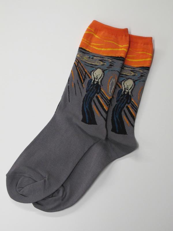 Socks Women's Munch The Scream,HC000079