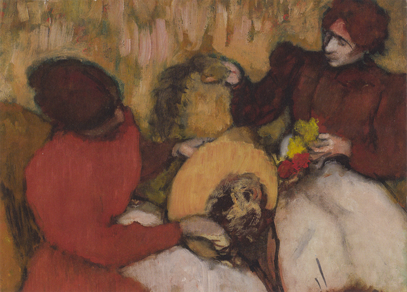 "Note card Degas's ""Milliners"""
