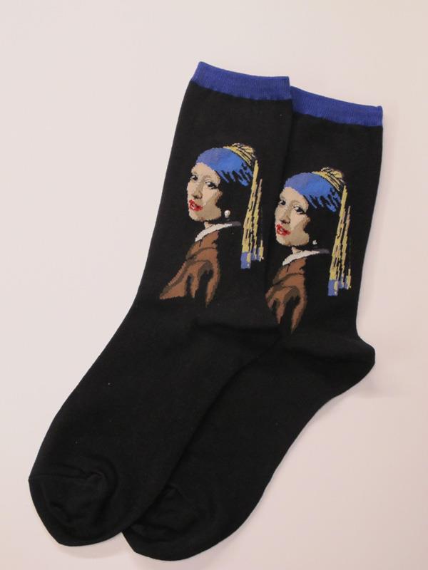 Socks Women's Vermeer Girl with the Pearl Earring,HC000114