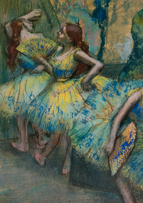 "Note card Degas's ""Ballet Dancers in Wings"" pastel box/10"