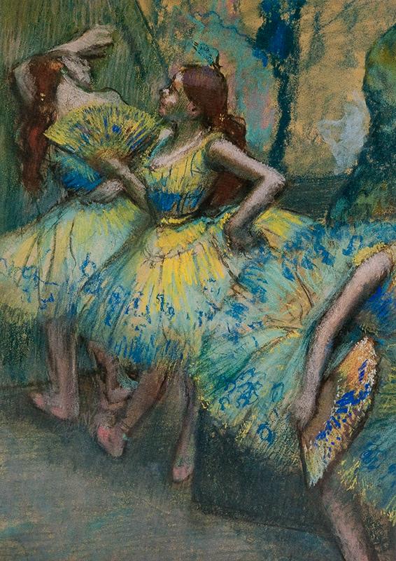 "Note card Degas's ""Ballet Dancers in Wings"" pastel box/10"
