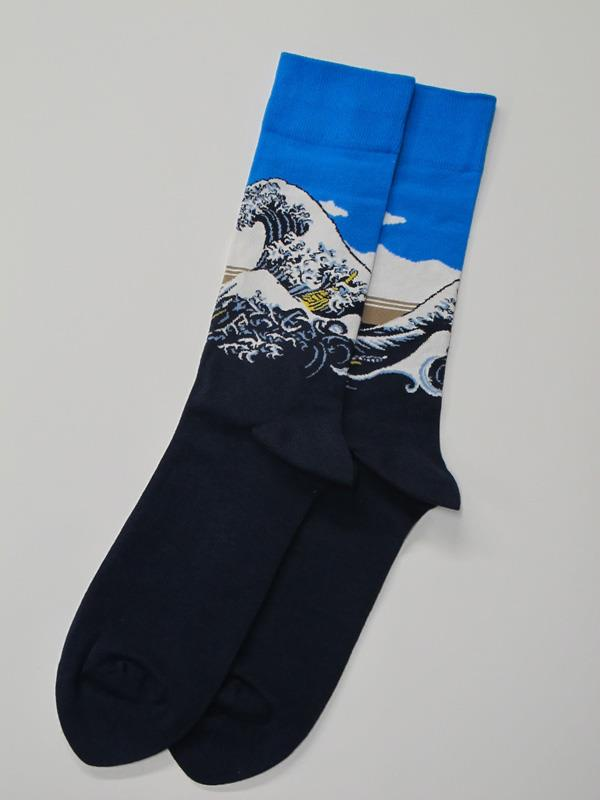 Socks Men's Hokusai Great Wave,HM400007