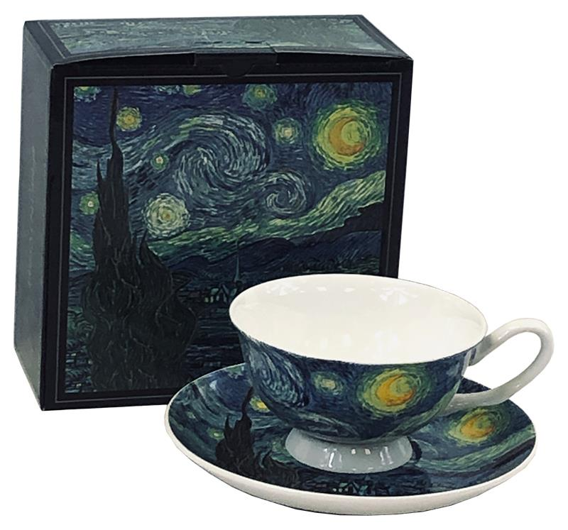 Cup and Sauce van Gogh Starry Night