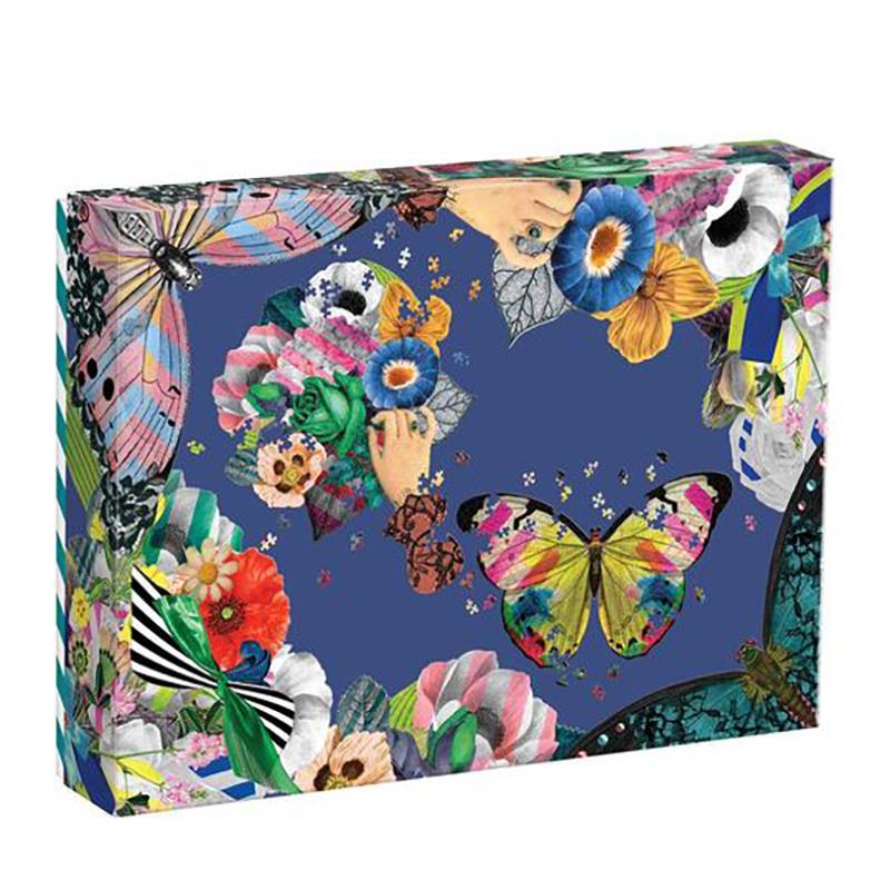Puzzle Christian Lacroix 2 Shaped Butterfly & Bouquet 850+pc,9780735364080