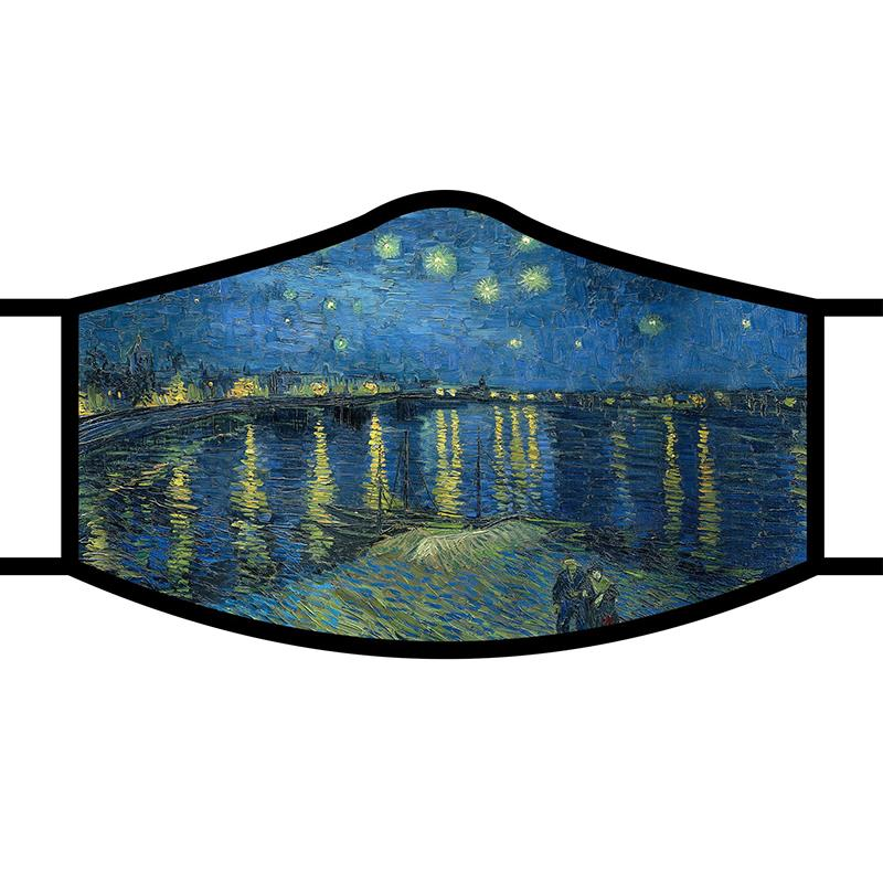 Face Mask FA van Gogh Starry Night Over Rhone,FM-M17