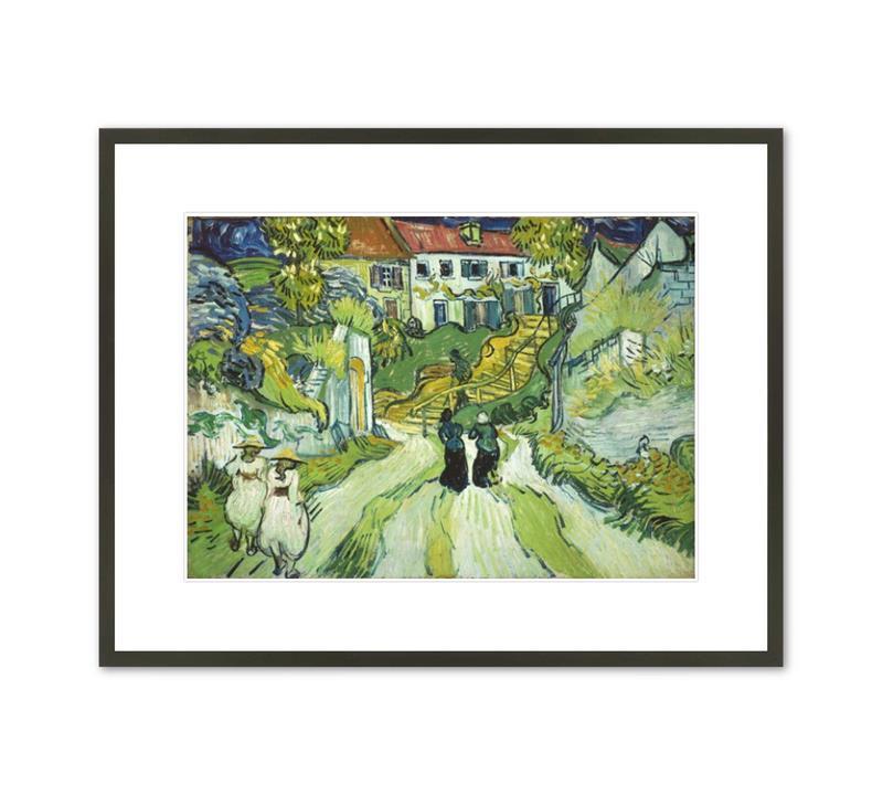 Framed Print van Gogh Stairway at Auvers