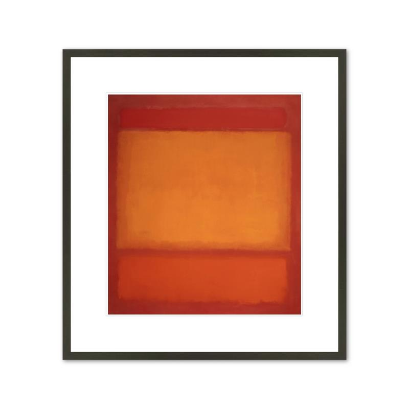 Framed Print Rothko Red, Orange, Orange on Red