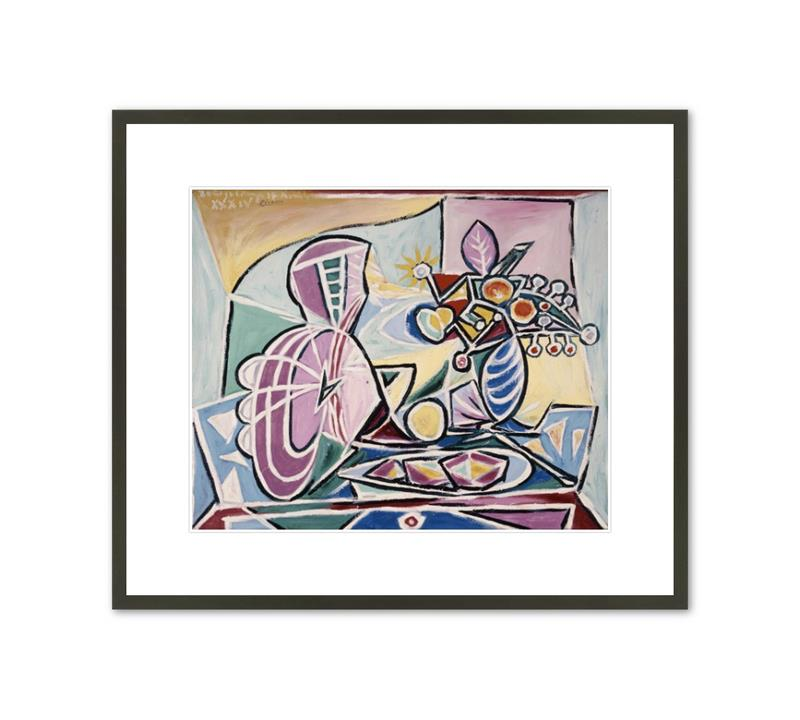 Framed Print Picasso Mandolin and Vase of Flowers