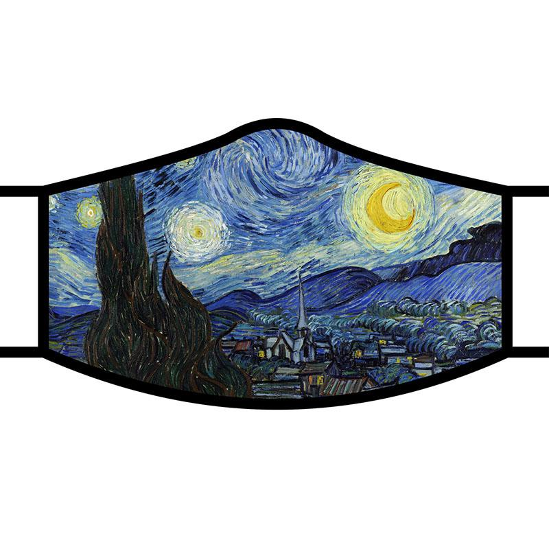 Face Mask FA van Gogh Starry Night,FM-M07