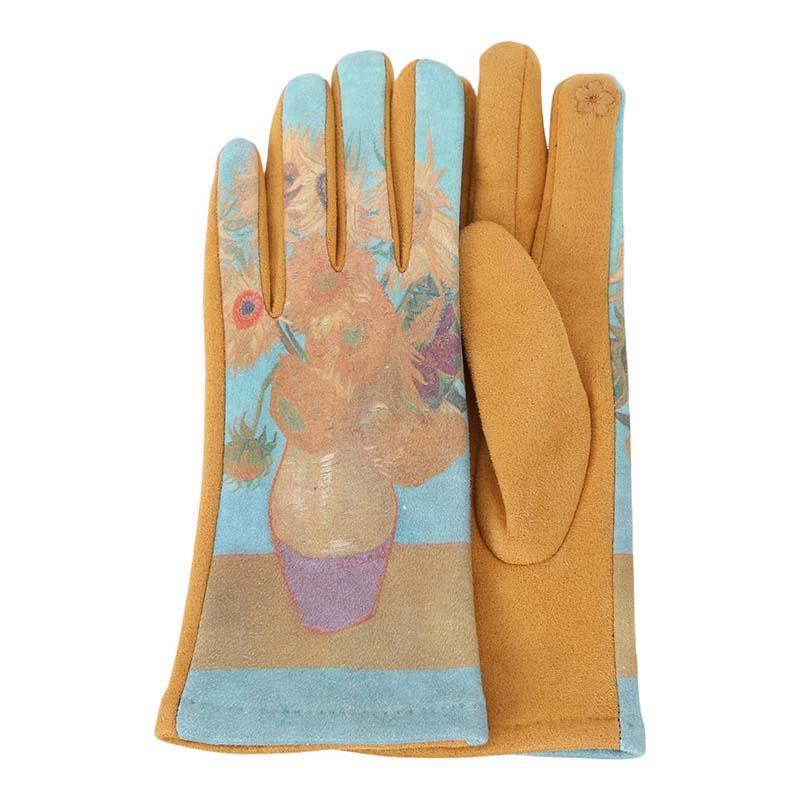 Gloves van Gogh Sunflowers,G-M25