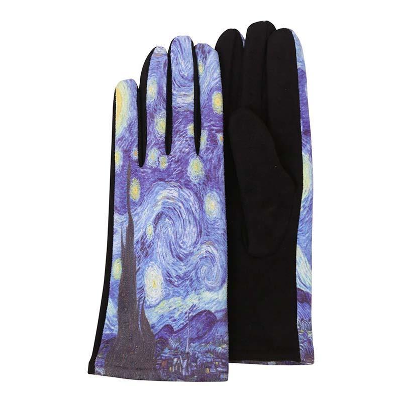Gloves van Gogh Starry Night,G-M07